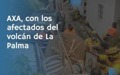Axa, con los afectados del volcán de La Palma